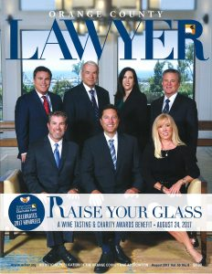 Aitken Aitken Cohn to be Honored as Law Firm of the Year at OCBACF's 2017 Raise Your Glass Event